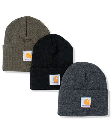 Carhartt Hat, Logo Cuffed Beanie - Hats, Gloves & Scarves - Men - Macy's