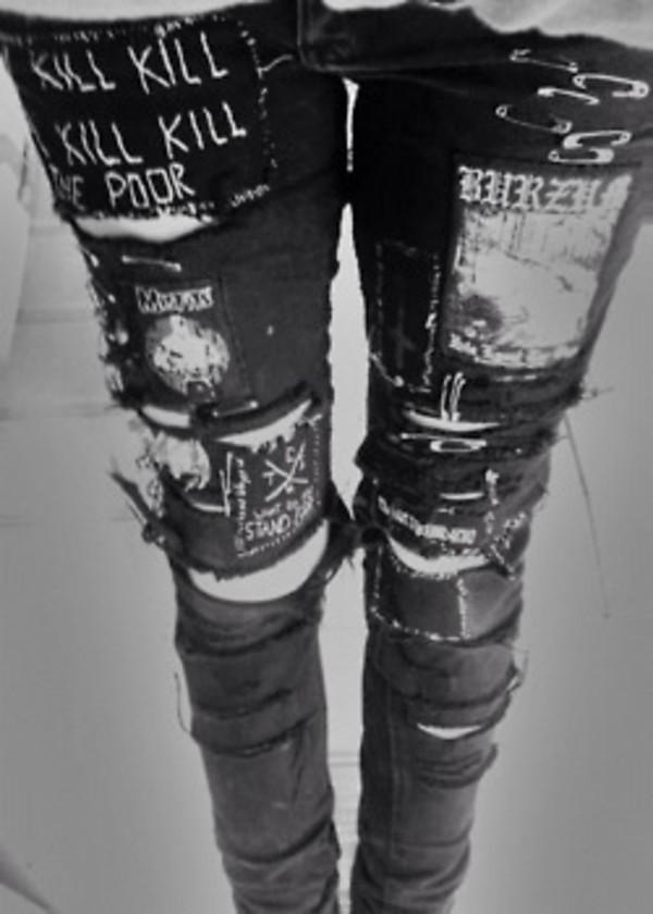 Emo Black Skinny Jeans - Shop for Emo Black Skinny Jeans on Wheretoget
