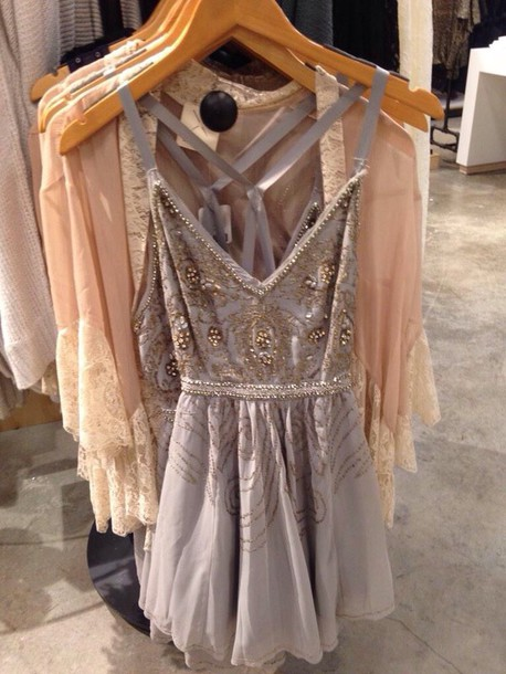 dress beaded flowy formal