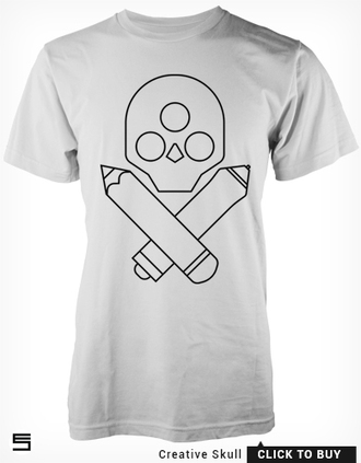 t-shirt illustration graphicdesign designer graphics art stylus pencils skull 3rd eye logo
