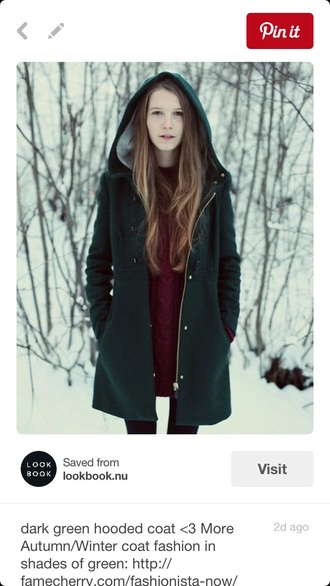 coat zara green hood wool winter outfits jacket wool coat wool jacket