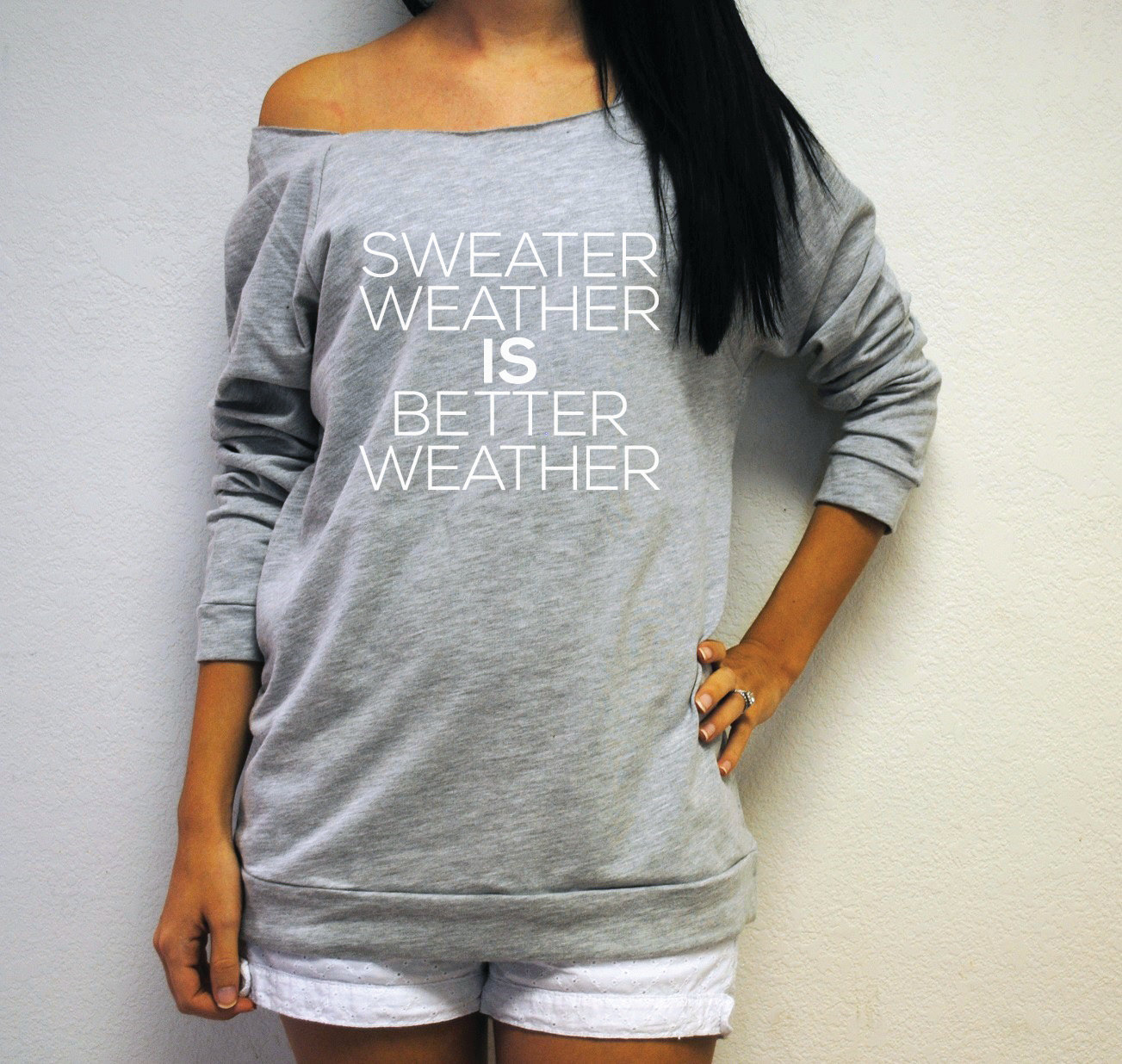 9fc19032f64 Sweater Weather IS Better Weather Off Shoulder. Sweater Weather Shirt. Fall  Off Shoulder.