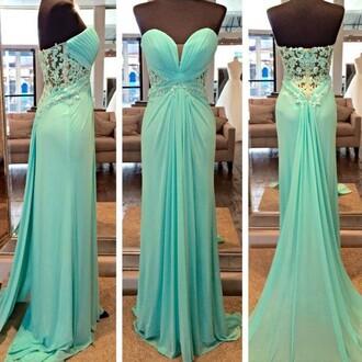 dress mint strapless prom gown fashion style trendy formal elegant classy dressofgirl prom dress
