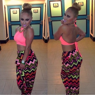 skirt outfit pink black girly tribal pattern tribal skirt stripes