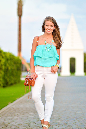 a lonestar state of southern blogger blouse top jewels bag jeans shoes