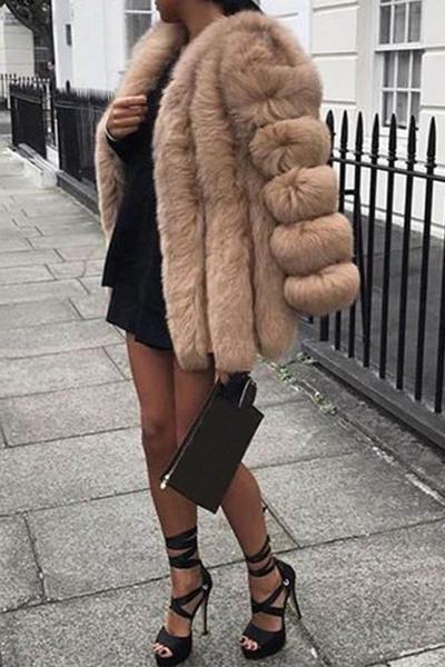 Bubble Faux Fur Coat