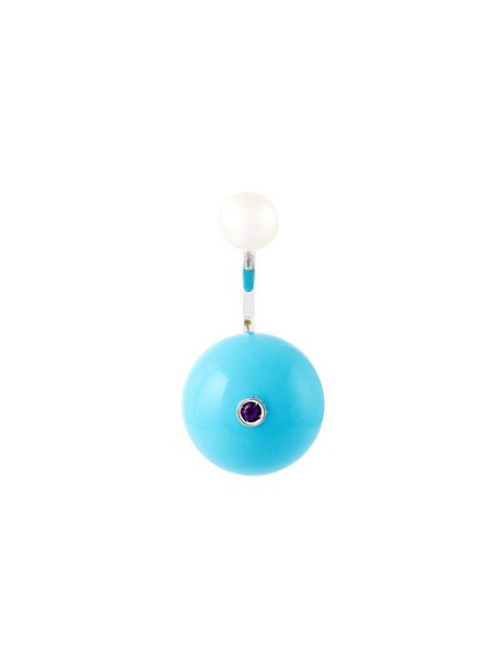 Delfina Delettrez women pearl gold white blue turquoise jewels