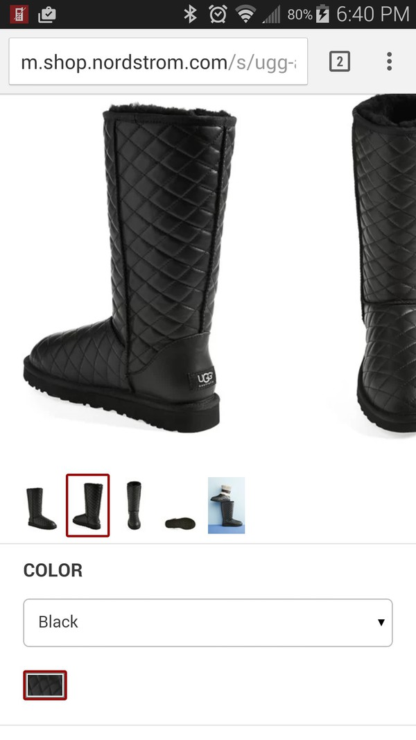ugg quilted classic boot