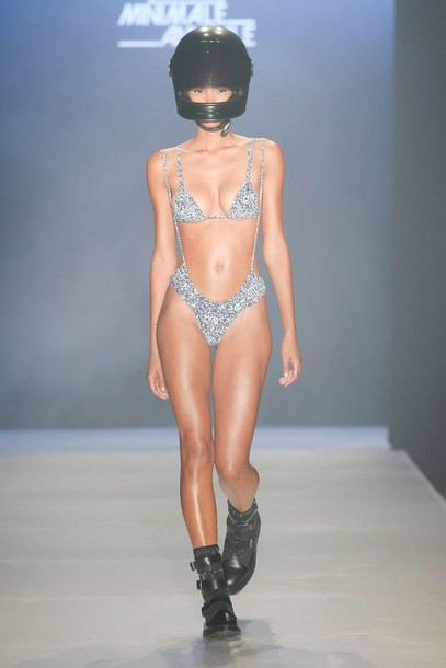swimwear silver tumblr summer trendy