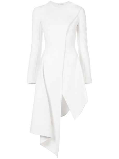 oscar de la renta coat women white wool