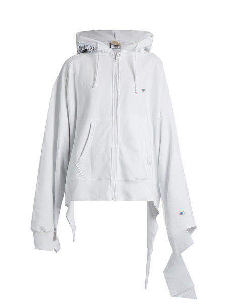 0b789e5dba7a Vetements VETEMENTS X Champion oversized cotton-blend sweatshirt in white