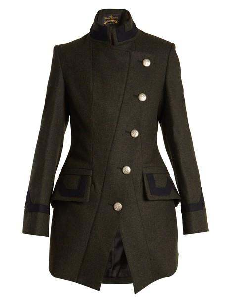 Vivienne Westwood Anglomania coat military coat wool khaki