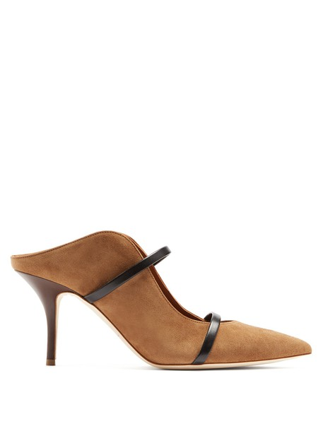 MALONE SOULIERS mules suede brown shoes