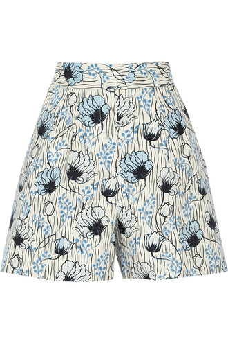 shorts blue shorts flowered shorts summer shorts