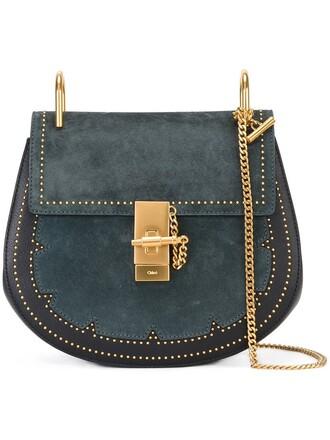 studded bag shoulder bag green