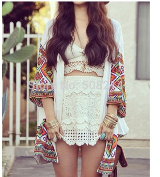 skirt white crop tops kimono top jewels