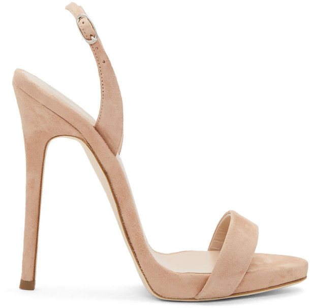 Giuseppe Zanotti sandals suede pink shoes