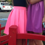 skirt,pink skirt,hot pink skirt,scuba skirt,skater skirt,sumemr skirt,neon skirt,icifashion,ici fashion