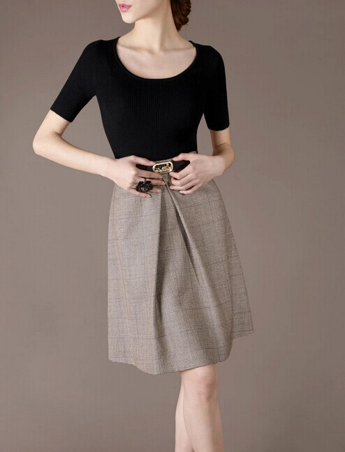 Grey Wing Elegant Noble OL Loose Women Fashion Skirt lml7083 - ott-123 - Global Online Shopping for Dresses