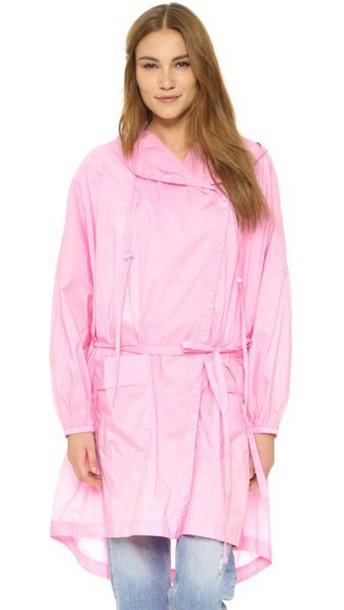 Tibi oversized candy pink coat