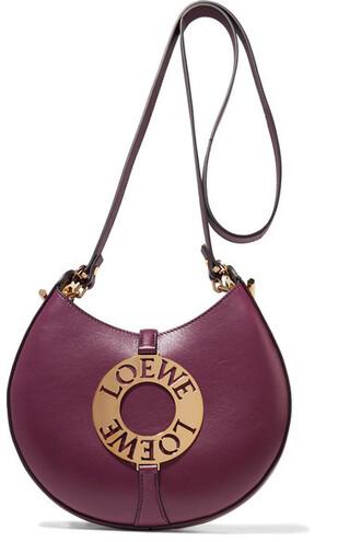 embellished bag shoulder bag leather burgundy
