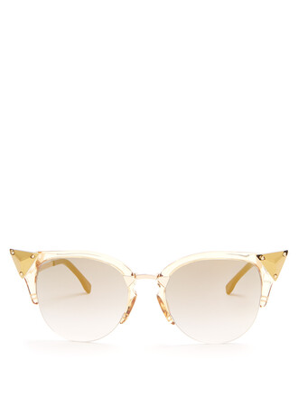 metal embellished sunglasses gold