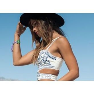 top the jetset diaries crop tops cut out crop top cut out top embellished crop top white crop tops gold white and gold strappy strappy crop top