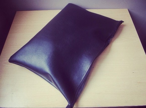 bag leather black leather faux leather black faux leather leather clutch leather, bag, pouch, handbags, clutch, black leather pouch pouch carry all pouch