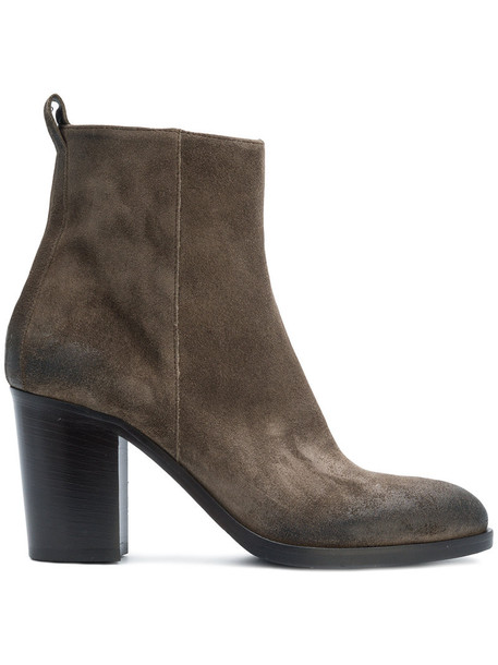 STRATEGIA zip women leather brown shoes