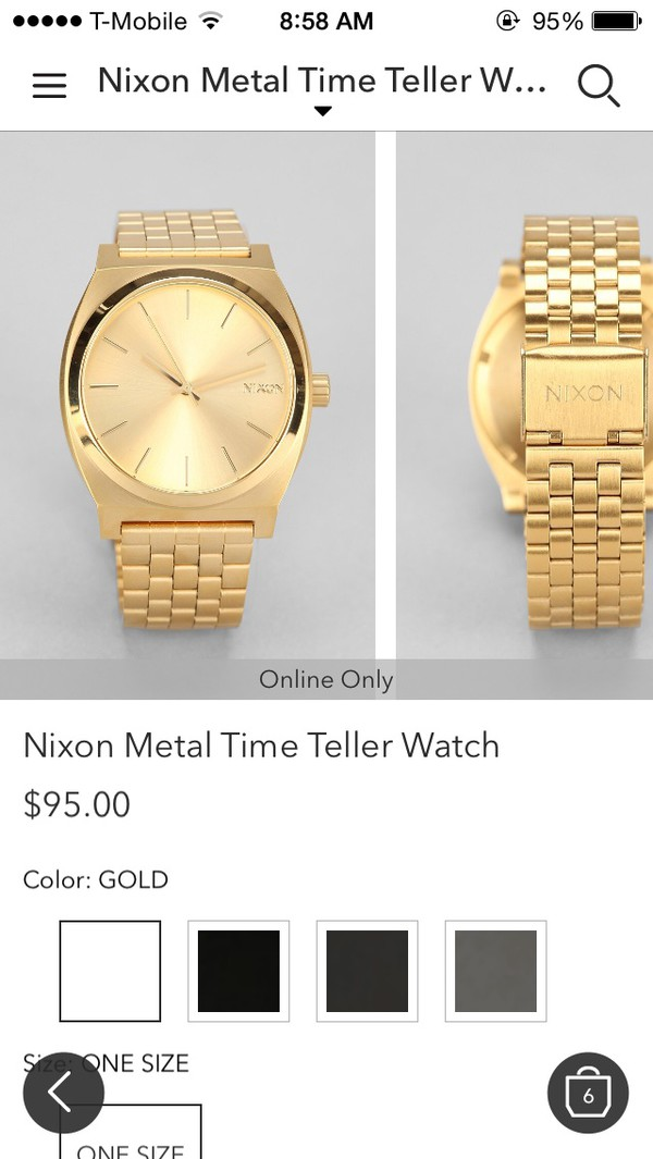 jewels watch gold nixon