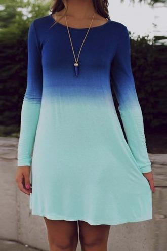 dress girl girly girly wishlist mini drss chiffon dress chiffon tie dye tie dye dress blue long sleeves long sleeve dress