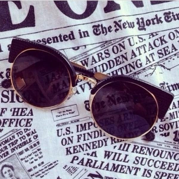 sunglasses black modern sixtys vintage hypster