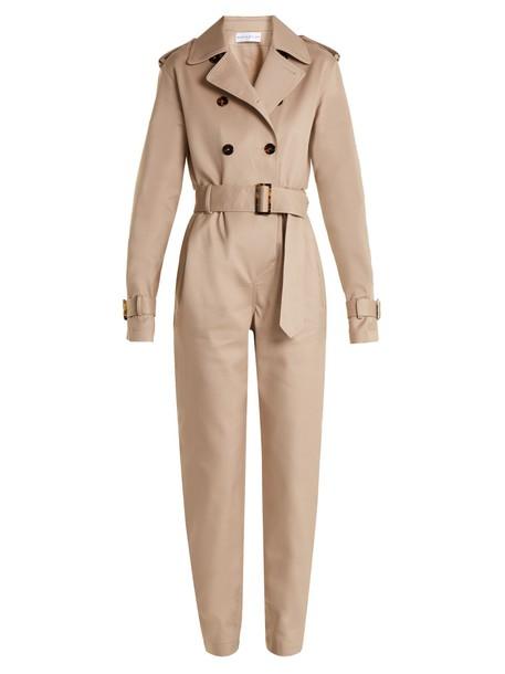 Wanda Nylon jumpsuit beige