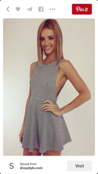 dress black and white dress stripes striped dress summer dress skater dress