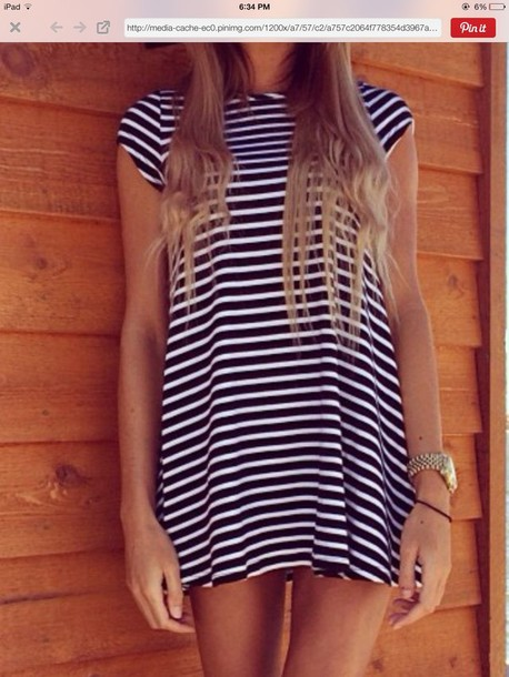 dress stripes tank top black white