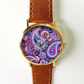 jewels,watch,handmade,style,fashion,vintage,etsy,freeforme,summer,spring,gift ideas,new,fashion trend,trendy,love,hot,purple,paisley,hippie