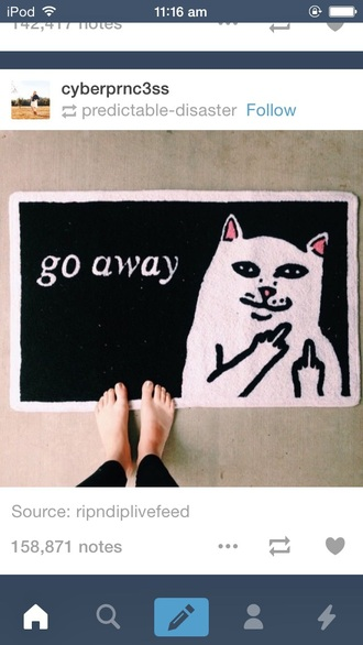 home accessory doormat cats