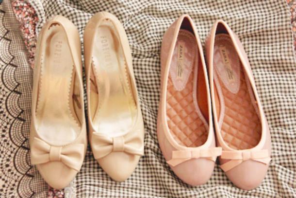 shoes flats ballet flats pastel pink flats cute shoes