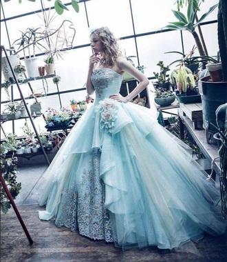 dress blue dress cinderella dress