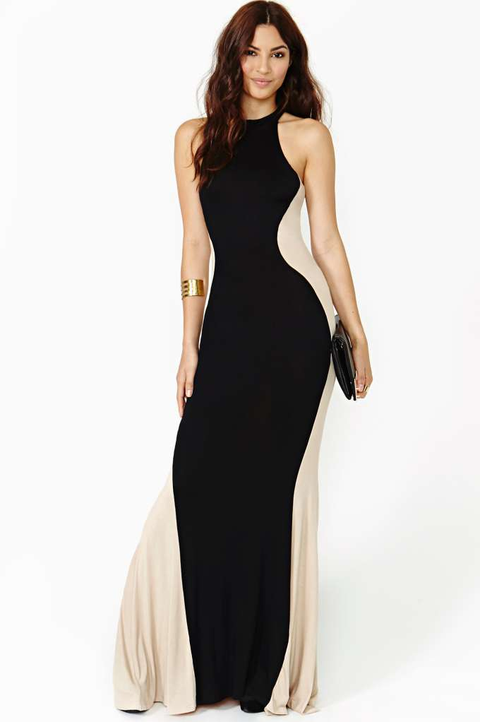 Dark Silhouette Maxi Dress | Shop clothes at Nasty Gal