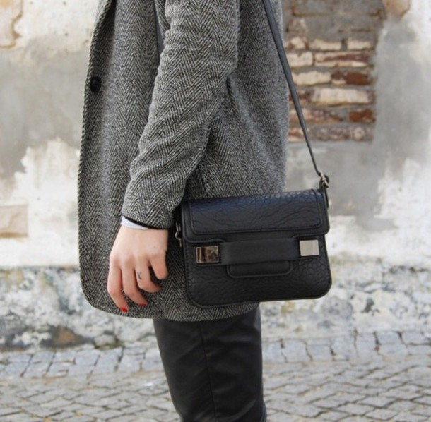 bag black leather crossbody bag