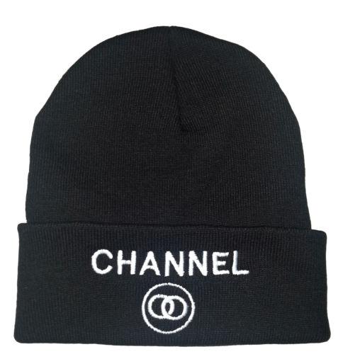 Channel black unisex beanie · nouveau craze · online store powered by storenvy