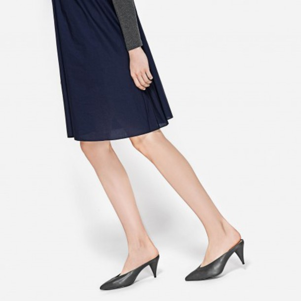 shoes mules charles and keith grey shoes grey heels fall outfits fall accessories classy pointed toe pumps pointed toe pointed toe heels