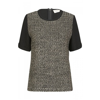 Top Tarsy gris chiné et noir - Eleven Paris - Ref: 1229696 | Brandalley
