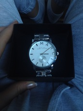 jewels,watch,marc jacobs,watch marc jacobs,michael kors watch,silver,accessories,outfit,ootd,potd,jacket,section boyz,adidas,adidas originals