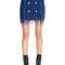 Fringed knit mini skirt