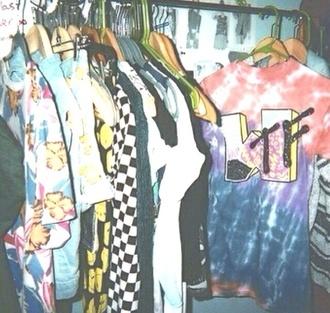 tv mtvgeneration mt everest mtv 2 oversized sweater tie dye tumblr band t-shirt