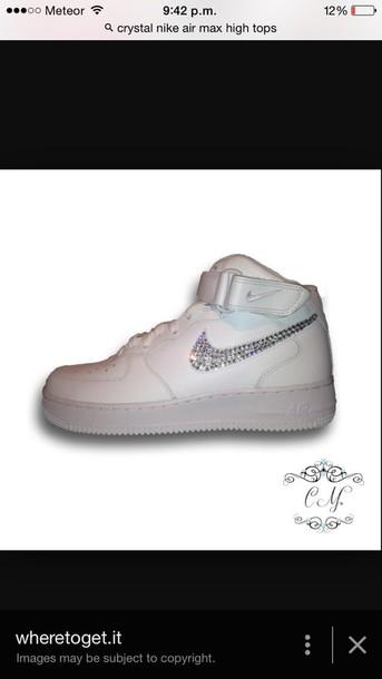shoes white nike air max high tops