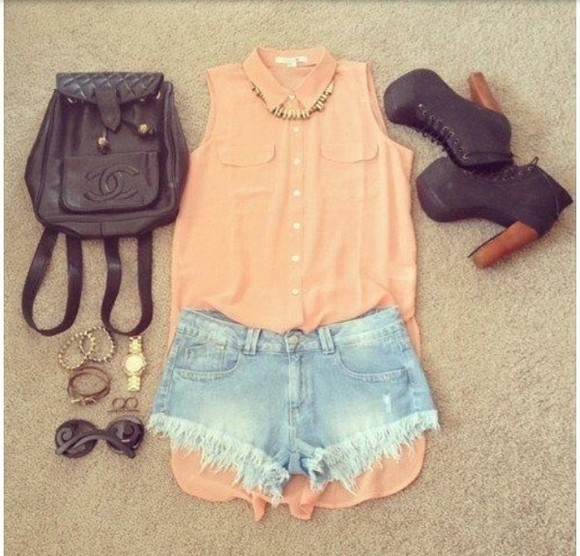 blouse necklace bag watch ring bag shoes sunglasses