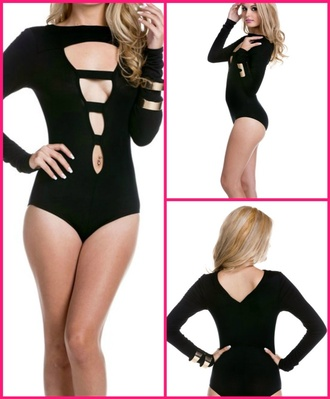 jumpsuit black sexy top style fashion fall outfits bodysuit one piece clothes cute tumblr outfit tumblr